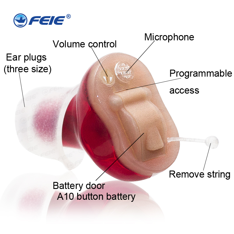 2017 Hot Earphone Deaf Hearing Aid audifonos para sordos dea Medical Sound Amplifiers CIC Mini Hearing Personal Ear Tools S-11A clear sound ear hearing machine adapter audifonos sordos recargable s 219 drop shipping