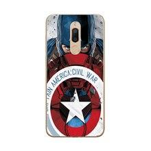 The Avengers Captain America Phone Case For Meizu M6T Silicone Bumper M811H 5.7″ Unique Cover For Meizu M 6T M6T Case Coque Capa