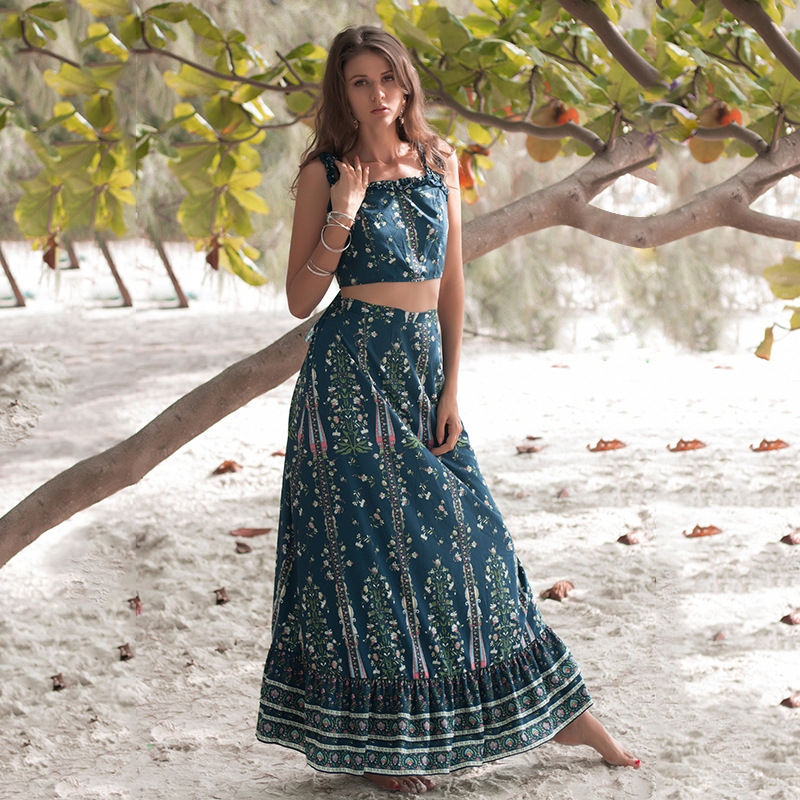 Women's Swimsuit Pareo Tunic Beach Swim Suits Swimwear Dresses Capes On Cape For The New Summer 2019 Bust Skirt Acetate Print