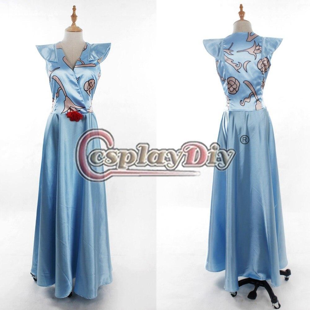 Cosplaydiy  Game of Thrones Margaery Tyrell Blue Dress Adult Women Halloween Cosplay Costume Custom Made