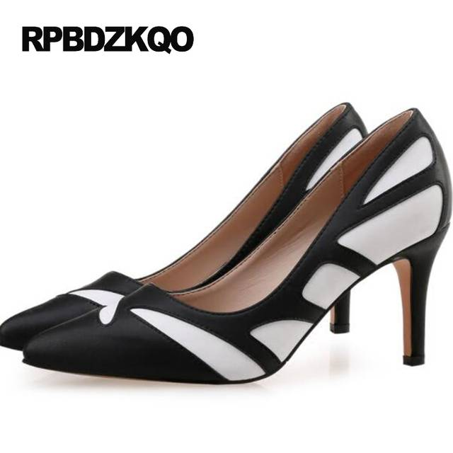 placeholder White Modern 2017 Pumps 12 44 3 Inch Ladies High Heels Shoes  Big Size 4 34 6903cb726ab8