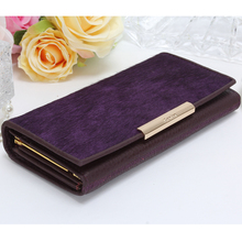 SUONAYI Genuine Leather women wallet female clutch bag ladies coin money card holder Organizer luxury brand