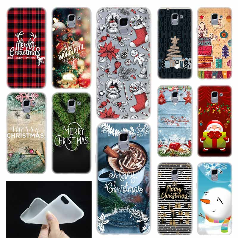 case Soft Cover or Samsung Galaxy J6 J8 J3 J5 J7 J4 Plus 2018 2016 2017 EU Prime Pro Ace Christmas series christmas lights