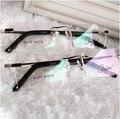 Супер Качество Очки Без Оправы Titanium Alloy Frame óculos де грау Очки Кадров Мужчин