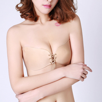 Sexy Women Strapless Bra Invisible Push Up Bra Angel Wing Shape Self Adhesive Silicone Bust Front