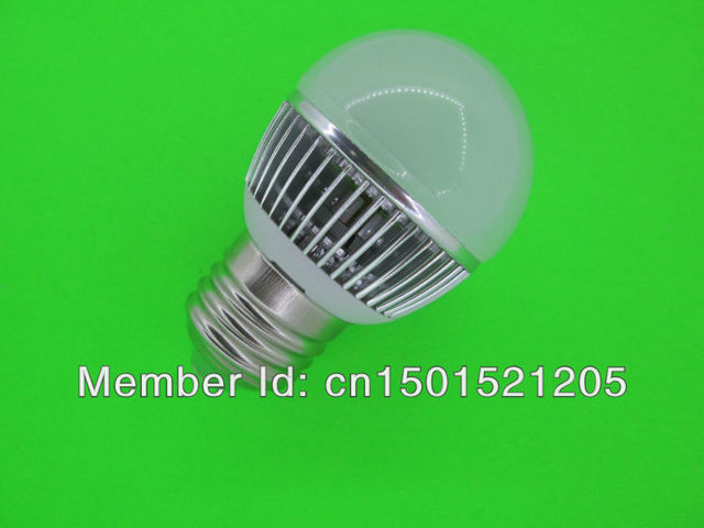 6W LED bulbs, dimming bubble bulb AC85 - 265V, E27 , silver shell color, warm / cool white , 2 * 3W + Free shipping