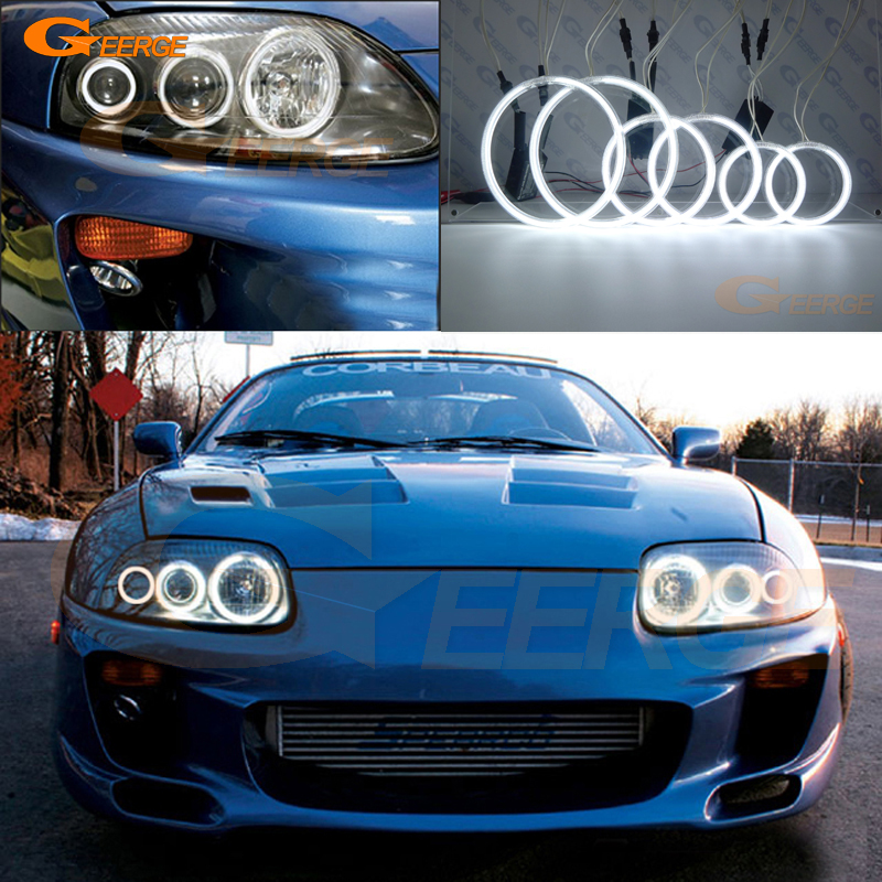 For toyota supra MKIV A80 1993 2002 Excellent Angel Eyes Ultra bright illumination CCFL angel eyes