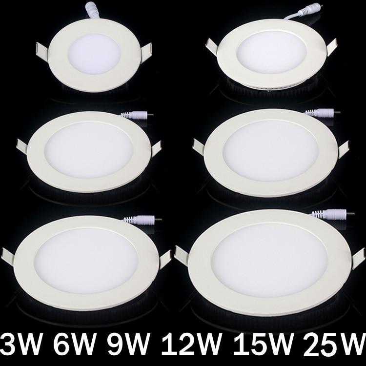 DHL ingyenes ultravékony LED panelvilágítás 3w 4w 6w 9w 12w 15w - Beltéri világítás