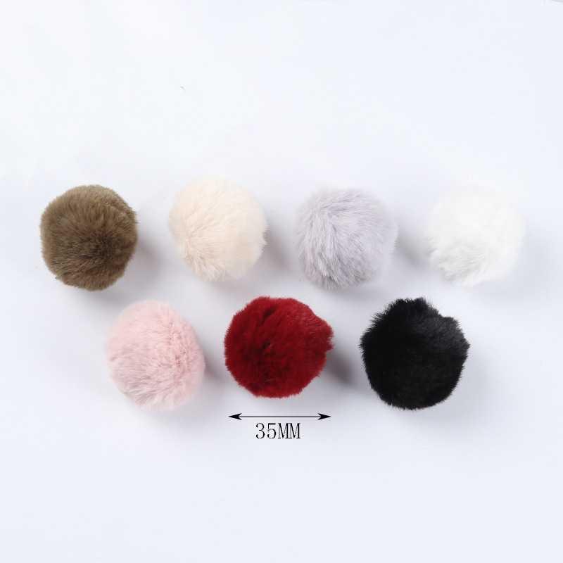 5 pcs Mini Fluffy Faux Fur Pompom Bolas para DIY Brinco Bolas Chaveiros Jóias Fazendo Descobertas Acessórios Artesanais Atacado