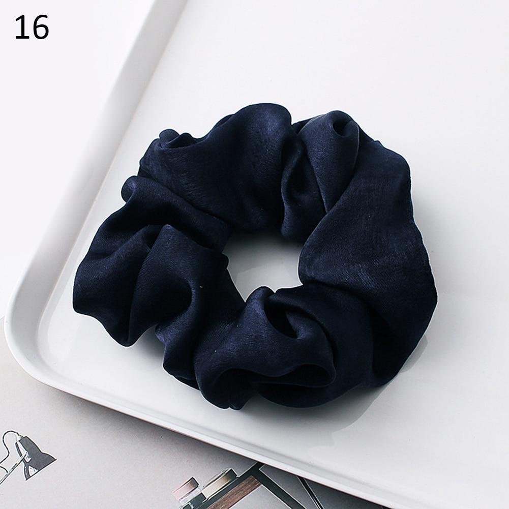 Новое поступление модные женские красивые атласные резинки для волос яркого цвета резинки для волос для девушек аксессуары для волос конский хвост держатель - Цвет: 16