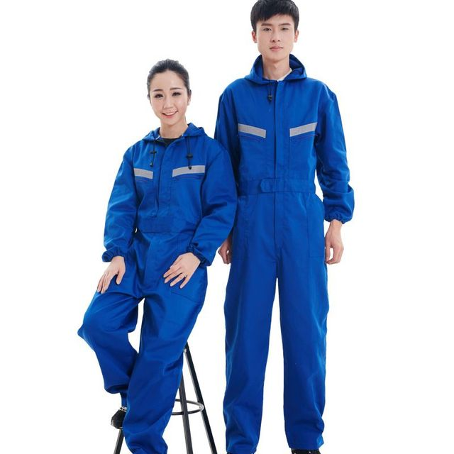New Arrival Men Hooded work wear jumpsuit Mens Workwear Cargo Pants  Repairman Jumpsuits Male Suspenders Uniform Overalls 052802 00462289e27