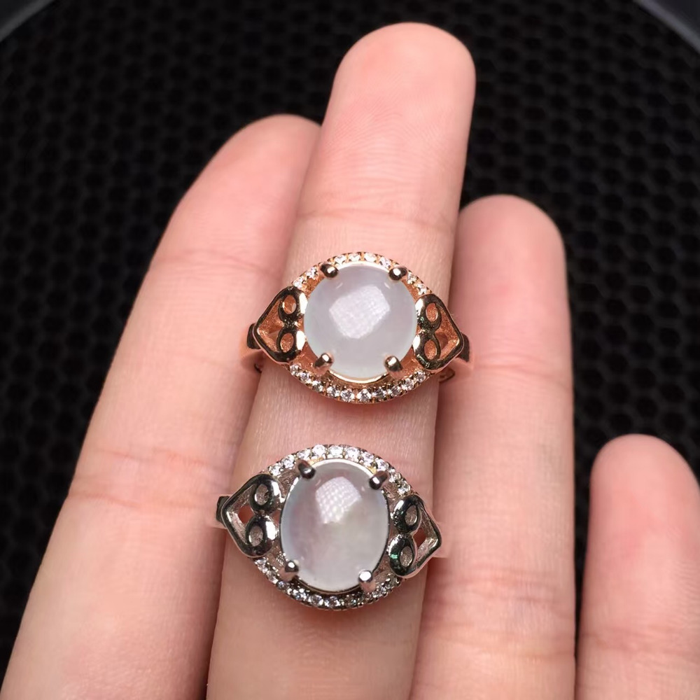 8*10mm real 925 sterling silver classic and elegant Burma A class ...