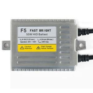Image 2 - F5 12v 55w 0.1 second fast bright H1 H3 H4 1 H7 H8 H9 H10 H27 881 9005 9006 AUTO HID XENON kit,55 watt hid xenon kit 4300k 6000k