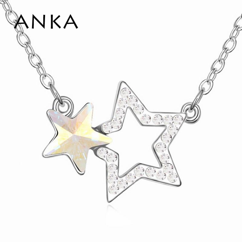 Anka Double Star Crsytal Chokers Necklace Crystal Fine Polishing