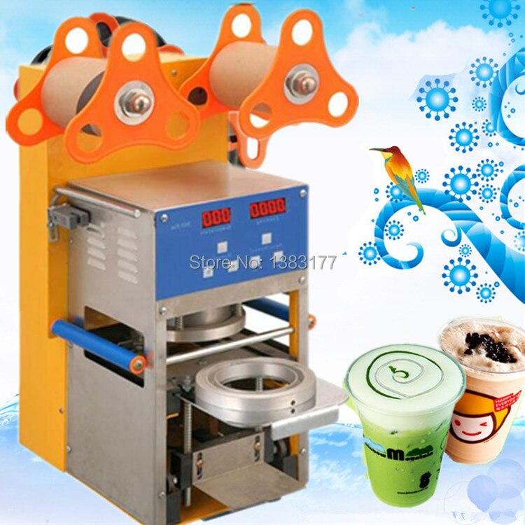 2017 free ship Digital automatic cup sealing machine,drink,bubble tea,milk drink cup sealer,PE,PP,Paper cup heat sealing machine bsm300ga170dls power module igbt freeshipping