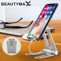 Foldable & Rotatable Metal Aluminum Alloy Phone Holder Universal Tablet Holder Stand Mount Support Display Table Holder Suporte
