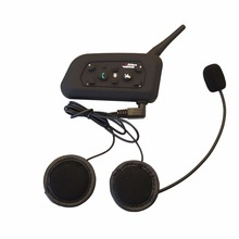 Vnetphone 1pcs V6 1200M Motorcycle Bluetooth 3.0 Helmet Intercom Headset Moto Wireless BT Interphone for 6 Riders Helmet Headset