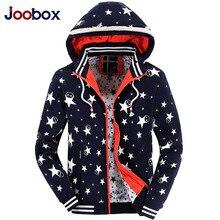 JOOBOX Brand Hoodies Men 2016 Fashion Detachable Cap Sportswear Male Five-pointed Star Printing Mens Hoodies And Sweatshirts