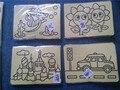Бесплатная Доставка 10 Шт./лот 15.5 см * 21 см Дети DIY Песок Картина Комплекты Песок Искусства Краской Карты Стикер 6 цвета Песка