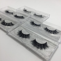 10 pairs /lot 3D Real Mink Handmade Crossing Lashes Mink Eyelash Individual Strip Thick Lash Fake Eyelashes