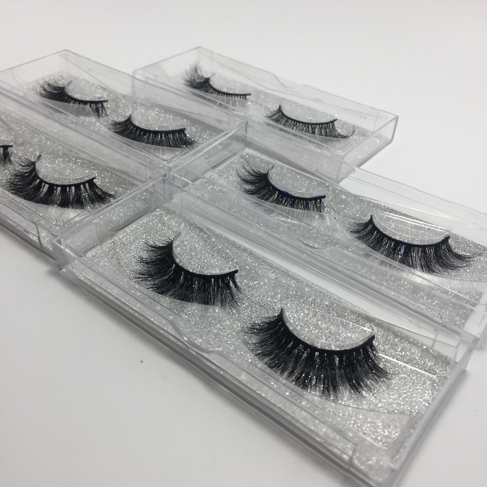 10 pairs /lot 3D Real Mink Handmade Crossing Lashes Mink Eyelash Individual Strip Thick Lash Fake Eyelashes adriatica a3521 1143qz