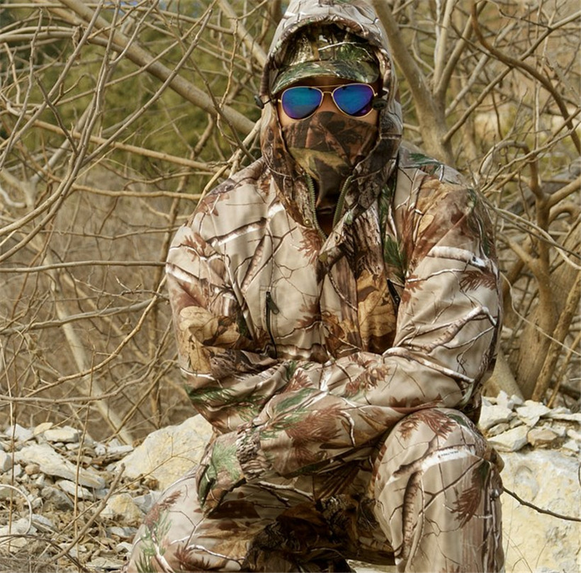 Waterproof breathable dead leaves camouflage fishing hunting 3D Bionic Ghillie Suit Snipper Tactical Military clothes jacket hedging models breathable cool xihansugan fishing clothes fishing clothes male mosquito fish suit