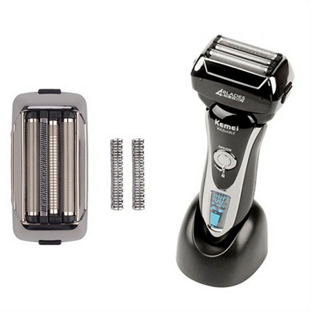 Men's Professional Electric Shaver Whole Body Washable Reciprocating Rechargeable Razor Beard Trimmer Face Shaving LCD Display professional pet electric push cats and dogs rechargeable dog shaver teddy electric fader dog shaving knife
