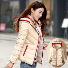 2016 короткий участок женщин хлопка проложенный зимнее пальто вниз куртка большой толщиной Тонкий был тонкий Корейский куртка волна