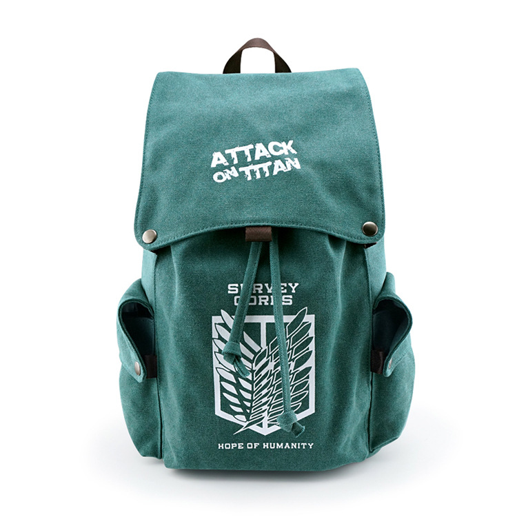 Anime Attack on Titan Canvas Backpack My Neighbor Totoro Travel Schoolbag Large cosplay Rucksack for Teenagers 020605 пудра на минеральной основе innisfree no sebum mineral pact