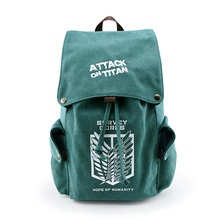 Anime Attack on Titan Canvas Backpack My Neighbor Totoro Travel Schoolbag Large cosplay Rucksack for Teenagers 020605