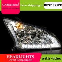 Тюнинг автомобилей для Lexus RX350 фары U глаза ангела 2004 2009 ForLexus RX350 светодиодный свет бар Q5 би ксенон объектив светодиодный лампы проектор