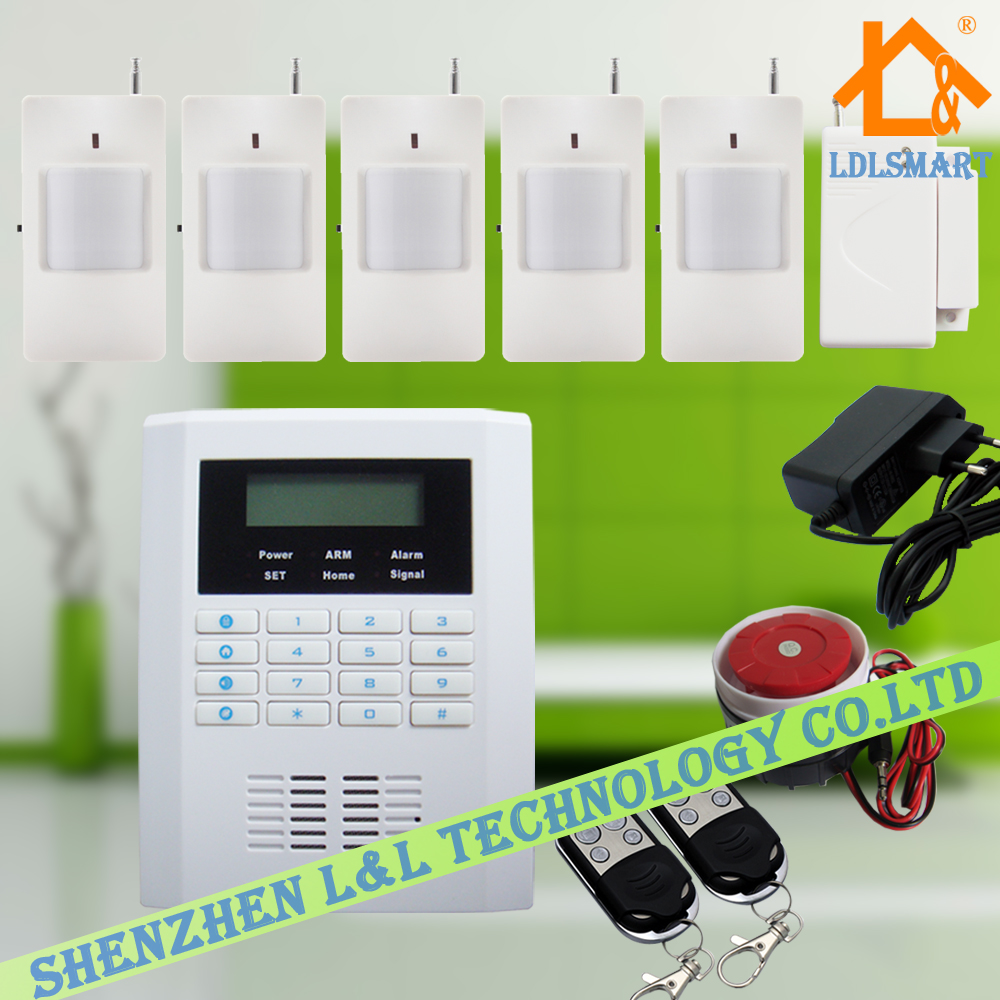 Wireless Intelligent Alarm System GSM PSTN Dual Networking Burglar Home  House Security Alarm System. Wireless Intelligent Burglar Alarm System Promotion Shop for