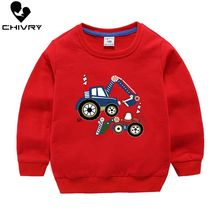 Children Hoodies Sweatshirts Boys Girl Kids Cartoon Print Cotton