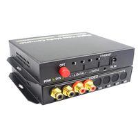 2CH Bidirection Audio Fiber Optical Transmitter Receiver Converters Broadcast