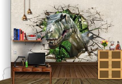 Animal Dinosaur Mural Sofa Tv Background Wall Wallpaper Wall Mural  Wallpaper For Kids Room Photo Murals 3d Wall Murals Wallpaper In Wallpapers  From Home ... Part 86