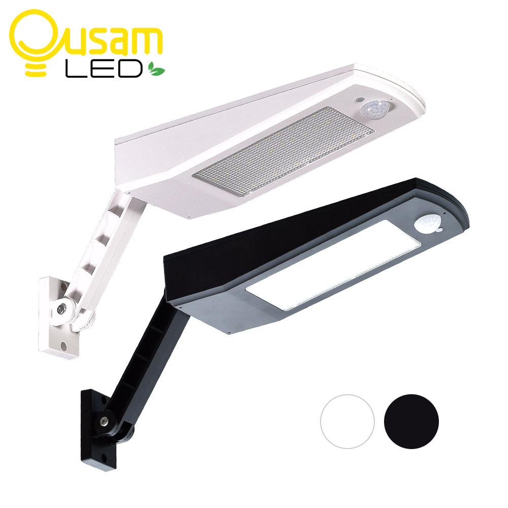 Solar Power 48LED 900LM Bright Light Wall Lamp PIR Sensor Motion 4 Modes New Design With Adjustable Pole For Outdoor Lighting