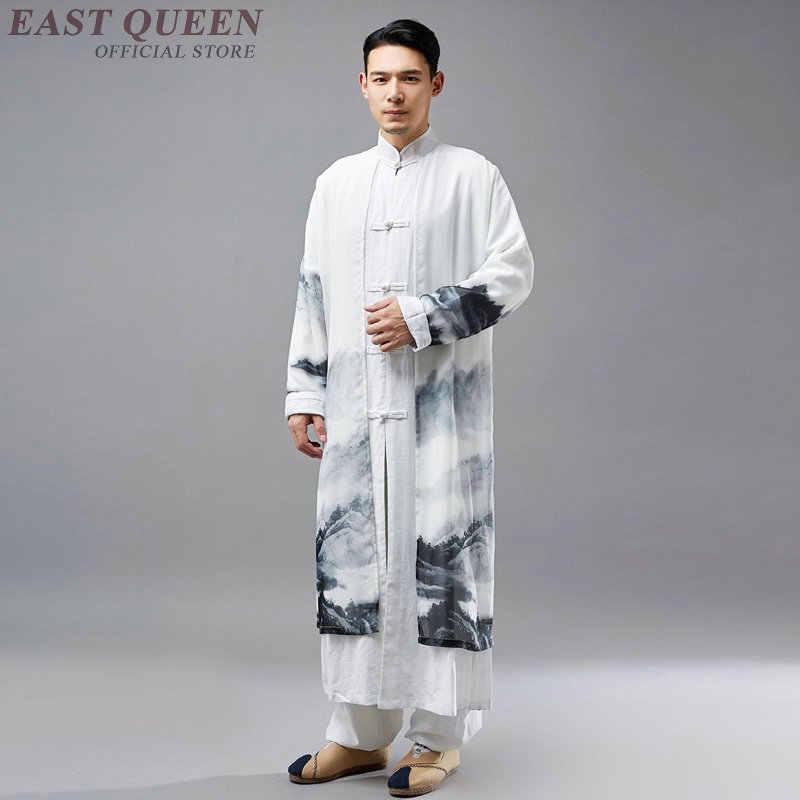 Традиционное китайское платье мужская одежда 2018 азиатская одежда мужская китайская культура традиционные мужские льняные рубашки KK2264 Y