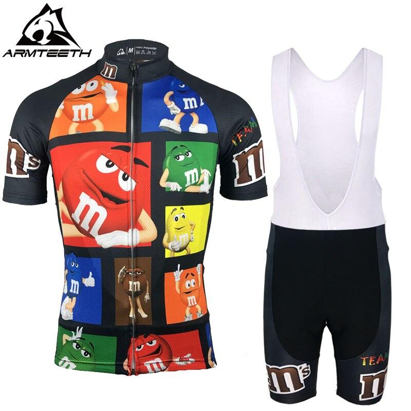 2017 sommer Kurzarm Radfahren Sets MTB Kleidung Atmungsaktiv Fahrrad MMS Pro Team Trikots Kleidung Maillot Ropa Ciclismo
