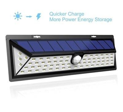 Бесплатная доставка, партия из 2 предметов Новый 66LED солнечные лампы Белый PIR датчик движения, водонепроницаемый на открытом воздухе стены, С... ...