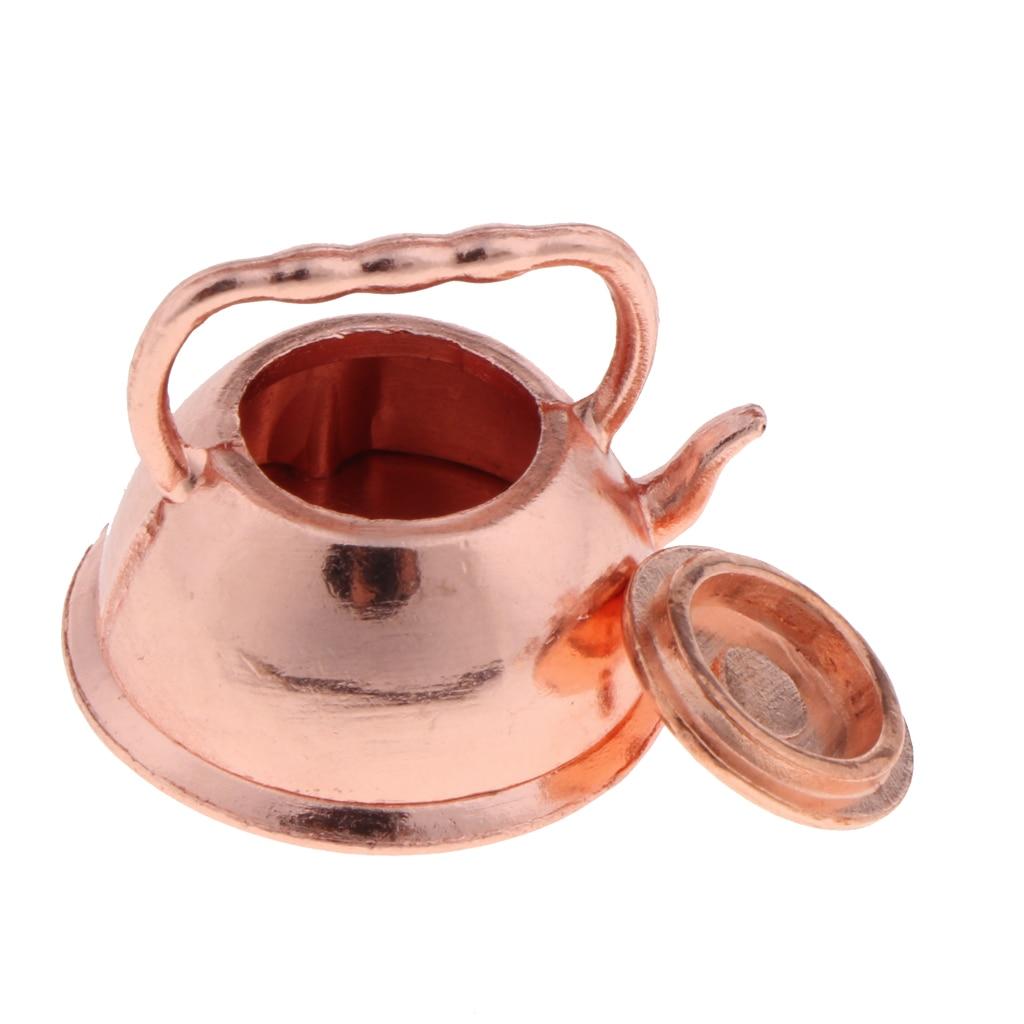 1:12 Dollhouse miniature bronze frying pan pot kettle cooking  WvTEhz