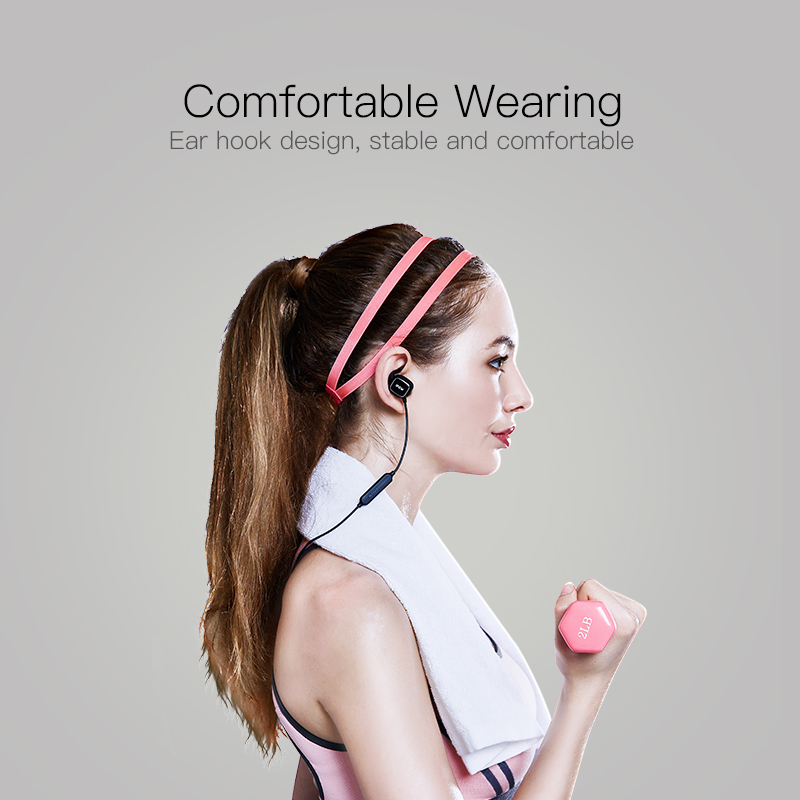 QCY QY12 Bluetooth Earphone Sports Wireless Headset Magnetic Switch Earbuds With Mic for Iphone,Xiaomi,Samsung