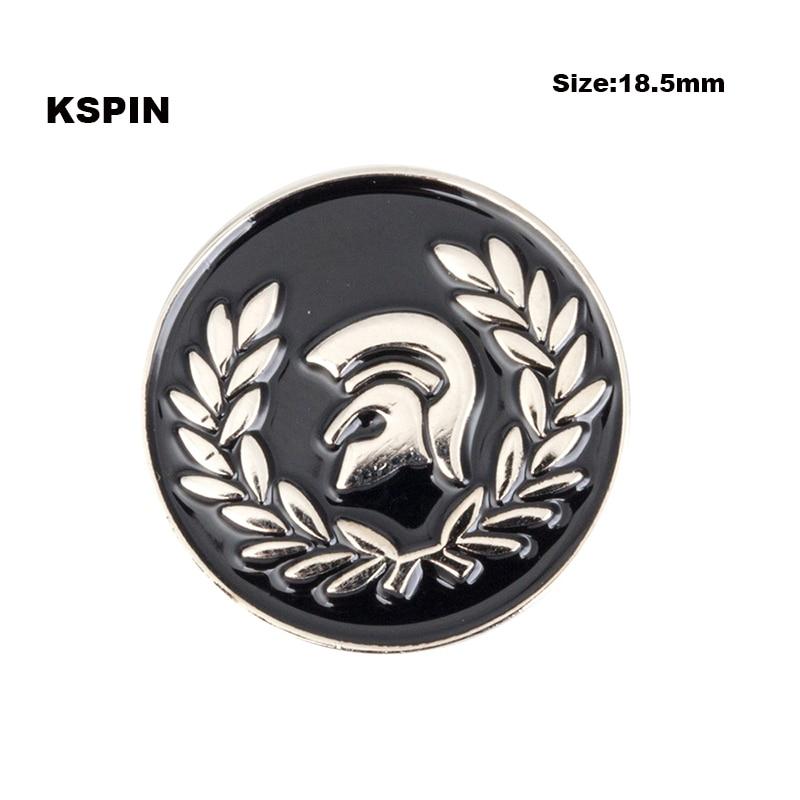 Złoty kolor gwiazda klapy pin odznaka pin rozmiar 25mm 100 sztuk dużo pin badge broszka ikony XY0117 w Identyfikatory od Dom i ogród na  Grupa 3