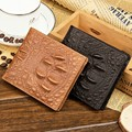 Baellerry New short men wallet Genuine 3D leather crocodile leather wallets retro luxury crocodile brand organizer card holders