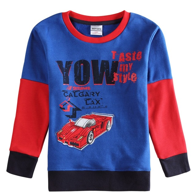NOVA Top tiger kids clothes boys t shirt children's baby toddler big boy clothing spring autumn soft cotton long sleeve tops