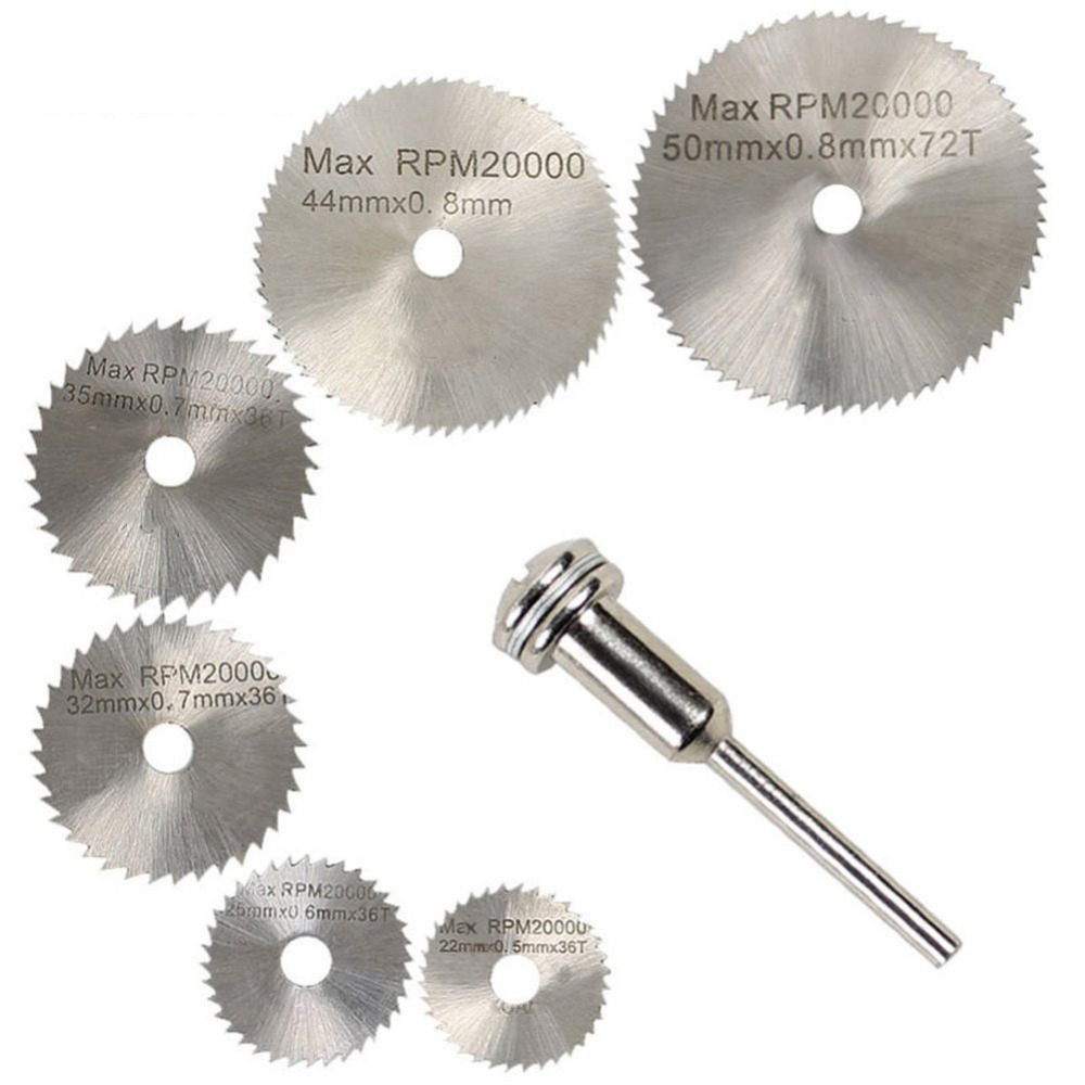 12pcs Utility Rotary Tool Circular Saw Blades Cut Wheel Discs Mandrel Cutoff