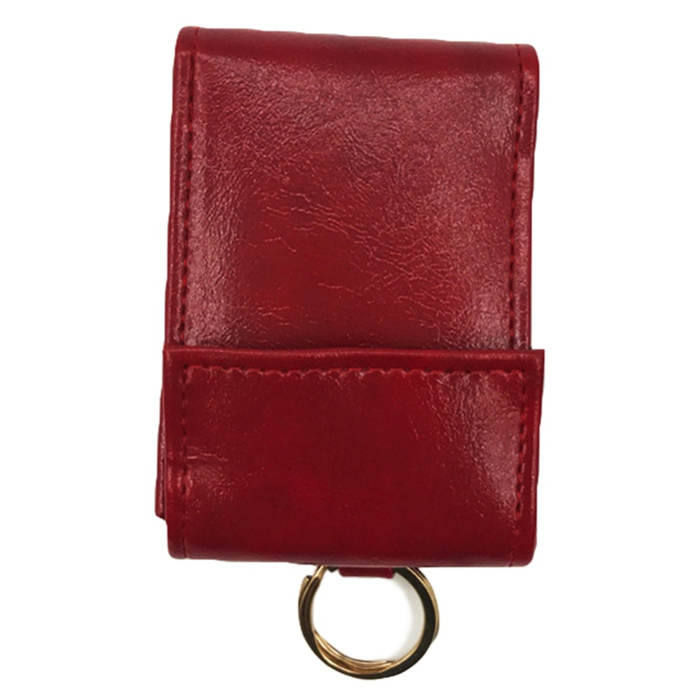 Artmi Lady Leather Card Wallet RFID Blocking Mini Cash Bag Card Holder Pure Color Wallet with Key Chain