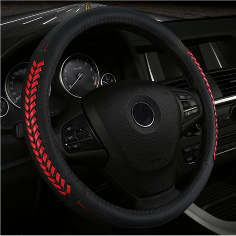 fashion car steering wheel covers leather auto accessories for toyota Yalis chrysler 300c voyager Suzuki Vitara Swift SX4 liana