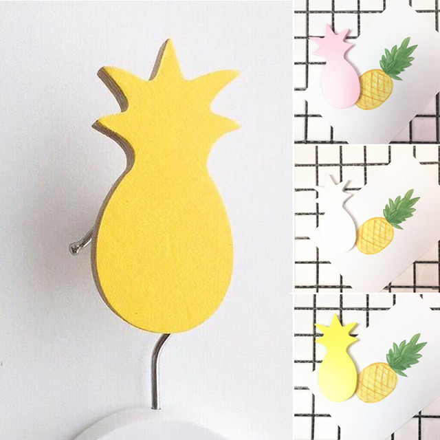 4.5CM*9CM Wooden Pineapple Hooks For Hanging Self Adhesive Wall ...