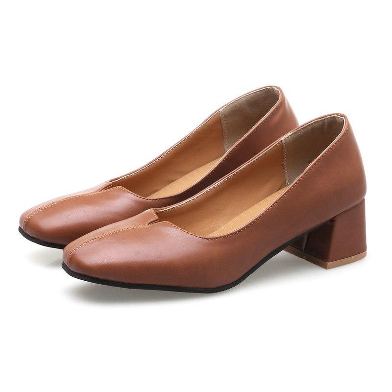 Tamaño 35 40 mujer PU cuero botas Oxford mujeres ronda los
