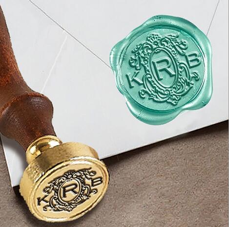 Personalized Monogram 3 Initial Custom Wax Seal Stamp 1